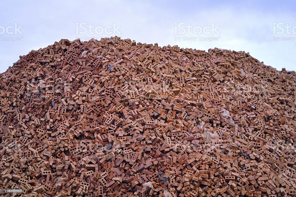 Mountain of Bricks royalty-free stock photo