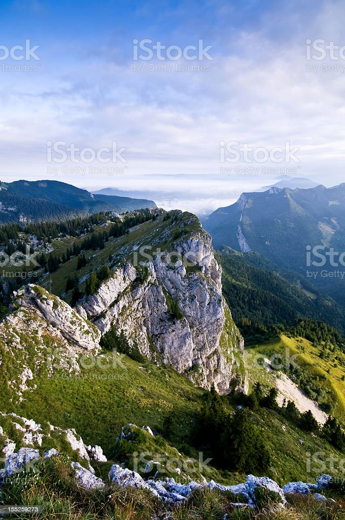 mountain of Chartreuse in French Alps stock photo