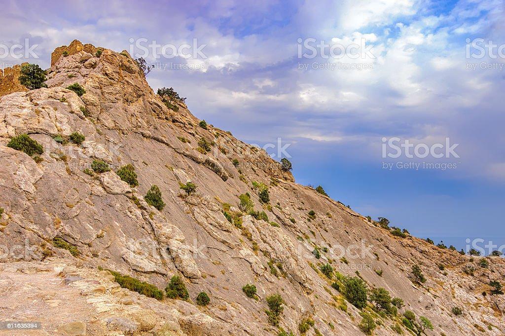 Mountain of Crimea, Sudak stock photo