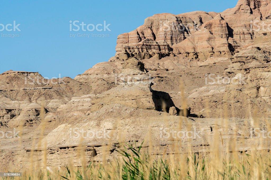 mountain of Danxia landform stock photo