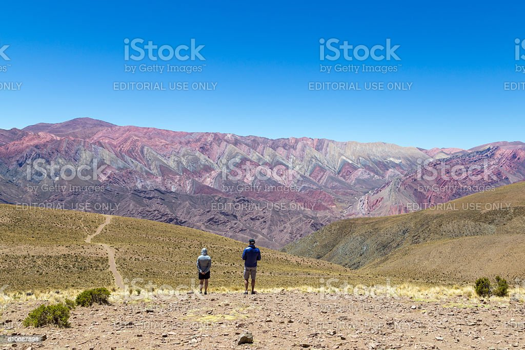 Mountain of fourteen colors in Humahuaca, Argentinar stock photo
