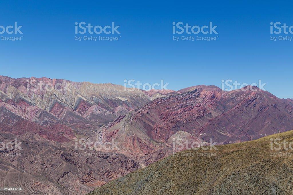 Mountain of fourteen colors, Quebrada de Humahuaca stock photo
