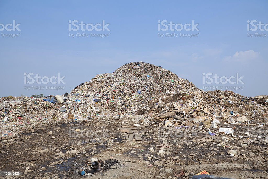 mountain of garbage royalty-free stock photo