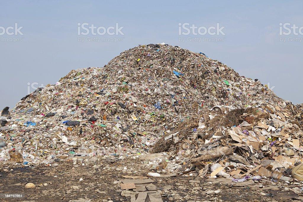 mountain of garbage royalty-free stock photo
