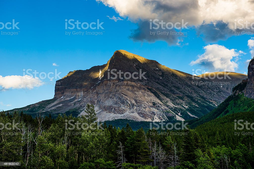 Mountain of Glacier National Park stock photo