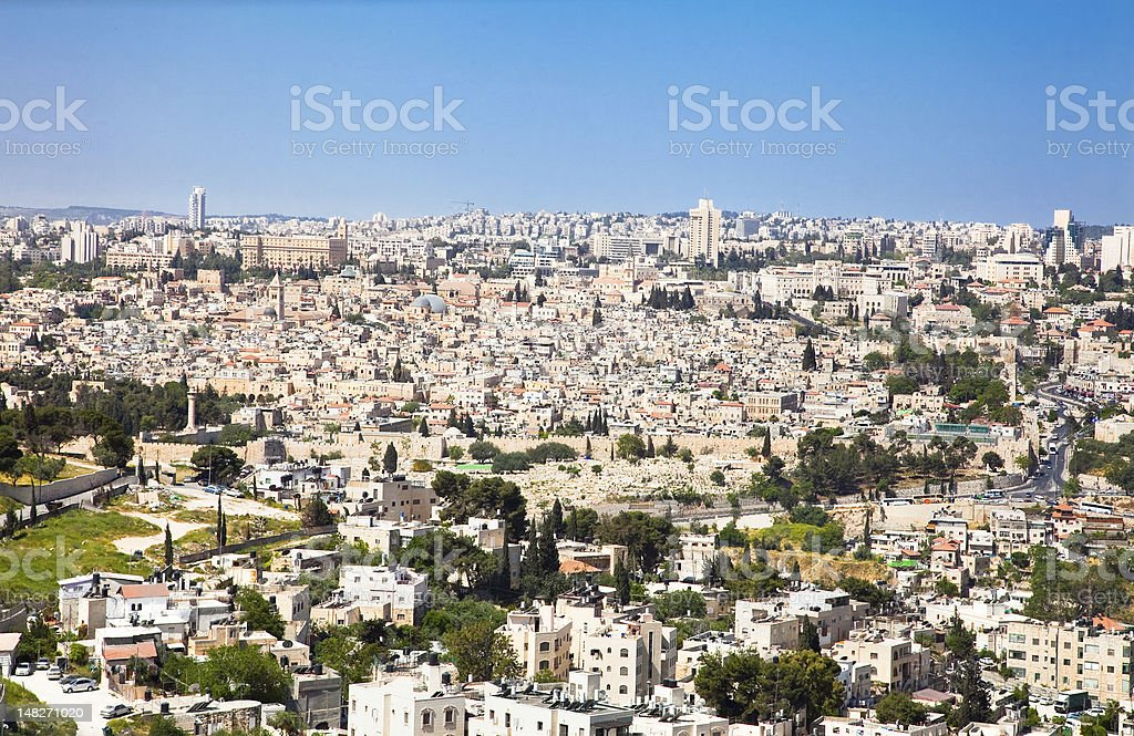 Mountain of Olives on the old Jerusalem. Israel. royalty-free stock photo
