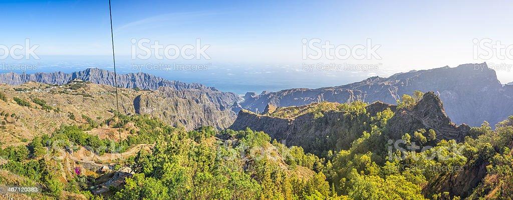 Mountain of Santo Antao / Cape Verde royalty-free stock photo