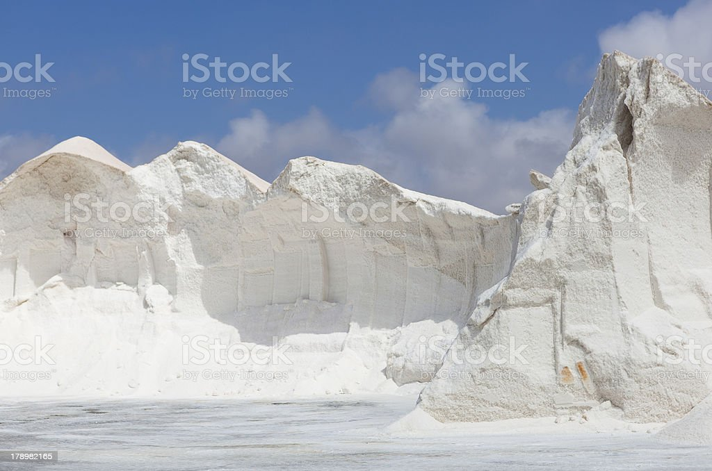 Mountain of sea salt stock photo