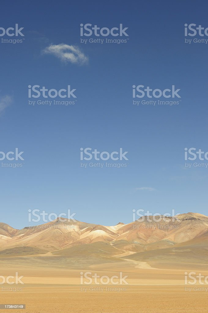 Mountain of the Seven Colors, Bolivia stock photo