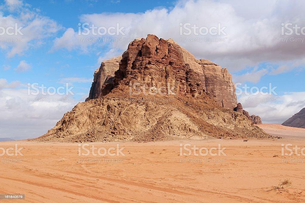 Mountain of Wadi Rum - Jordan stock photo