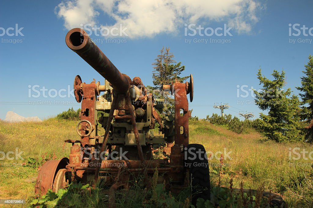 Mountain old Cannon stock photo