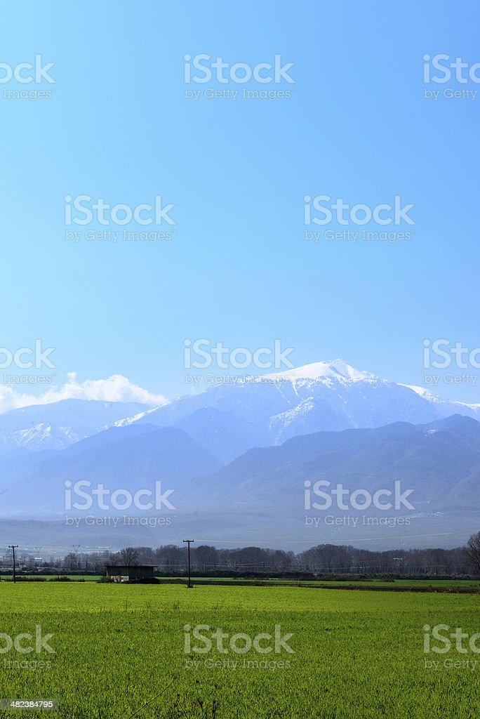 Mountain Olympus Greece stock photo