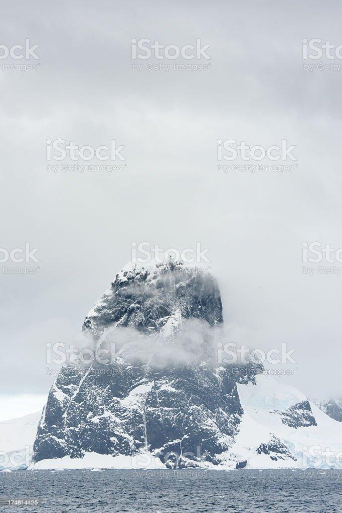 Mountain on Antarctica royalty-free stock photo