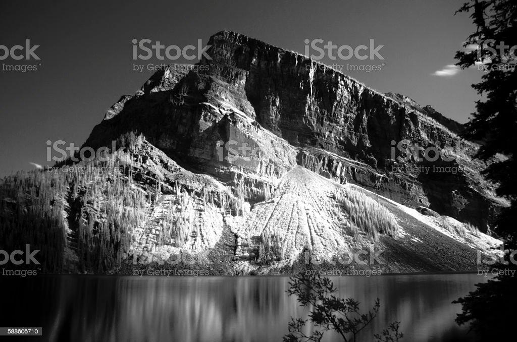 Mountain Over a Lake stock photo