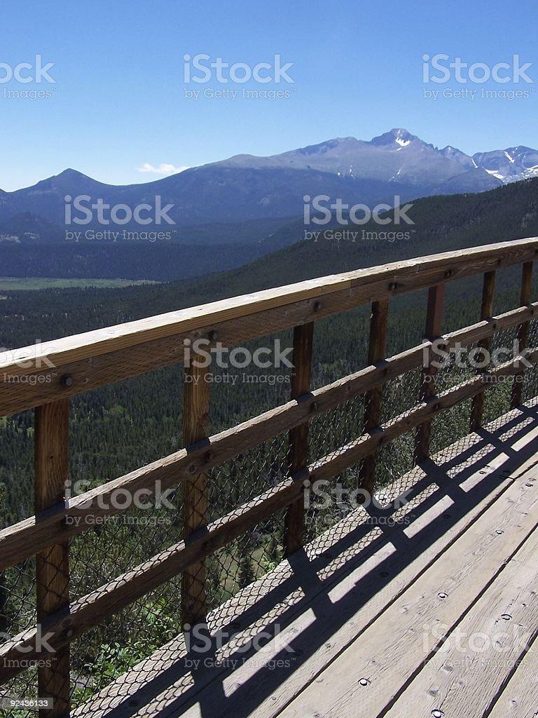 Mountain overlook royalty-free stock photo