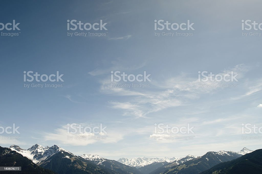 Mountain Panorama Hohe Tauern stock photo
