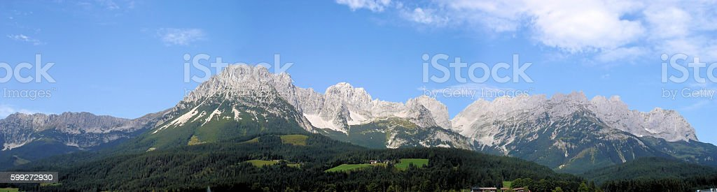 Mountain panorama in Austria stock photo