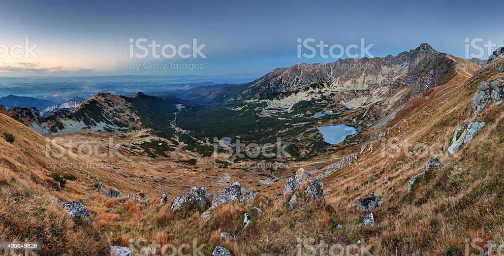 Mountain panorama  in Poland Tatras - Rohace , Slovakia stock photo