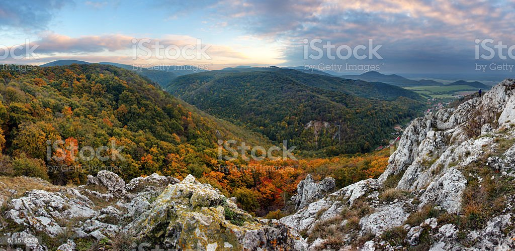 Mountain panorama in Slovakia - Small Carpathian stock photo