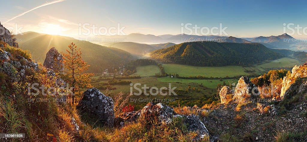 Mountain panorama in Slovakia - spring royalty-free stock photo
