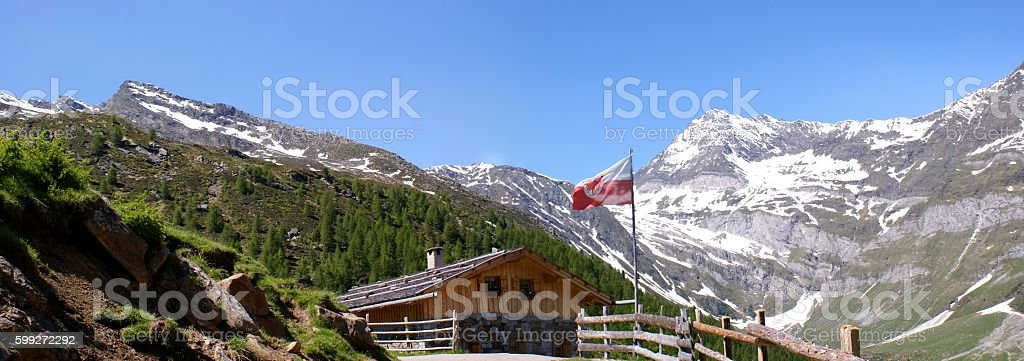 Mountain panorama in the Oetztal Alps stock photo