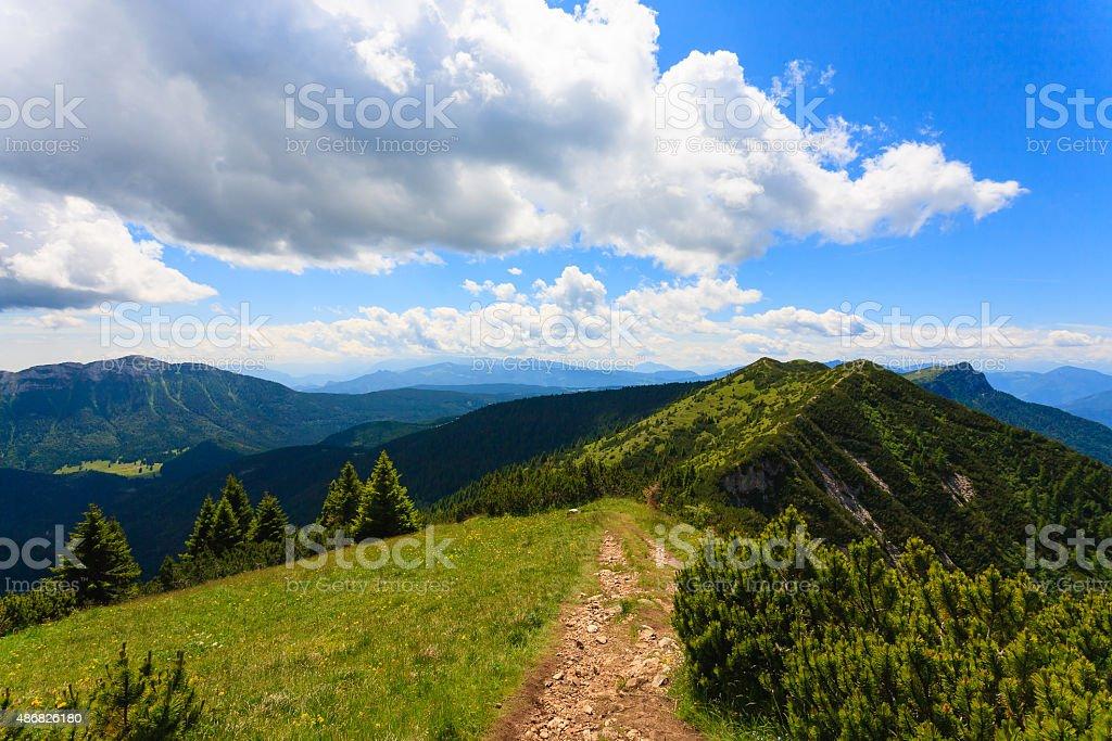 Mountain panorama, Italy stock photo