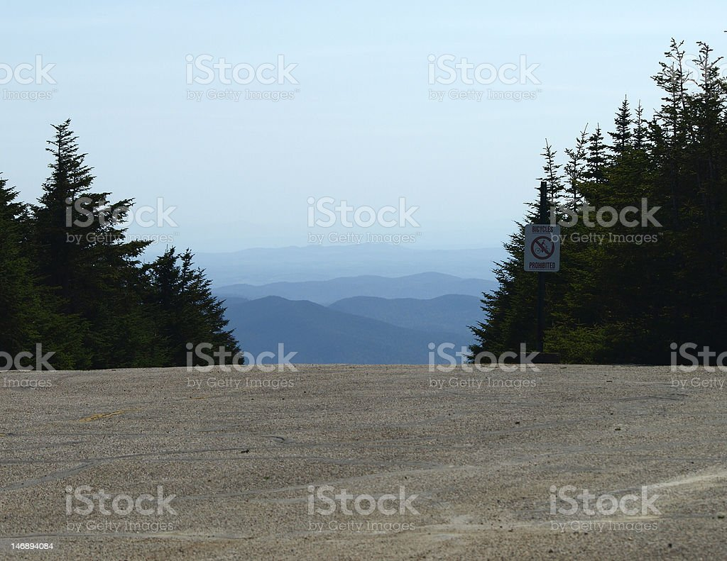 Mountain panorama, Mt. Mansfield Vermont stock photo