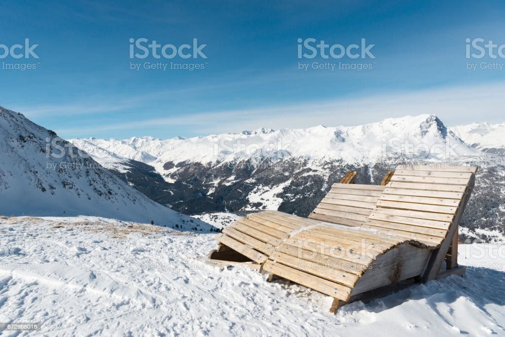 Mountain panorama Nauders stock photo