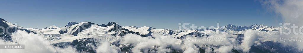 Mountain Panorama of Switzerland stock photo