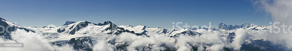 Mountain Panorama of Switzerland stock photo