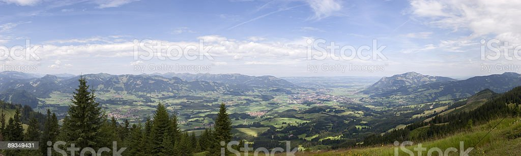 Mountain Panorama (Allgäu/Bavaria) royalty-free stock photo