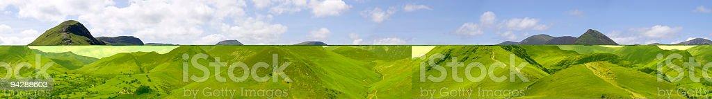 Mountain panorama. stock photo