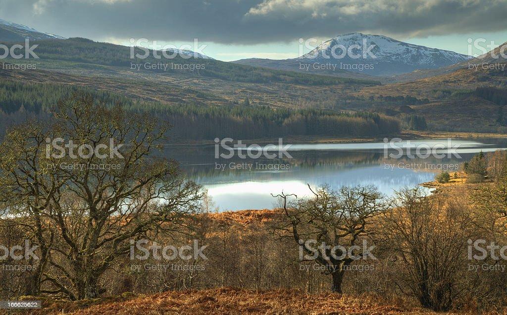 Mountain Panorama with lake royalty-free stock photo