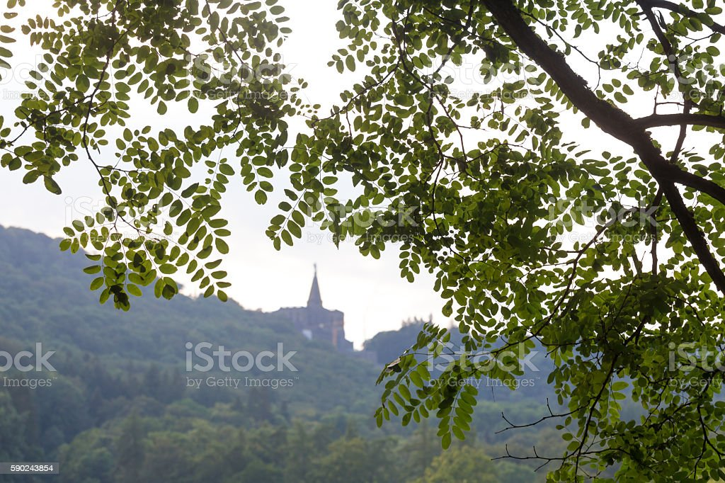 mountain park wilhelmshoehe kassel germany stock photo