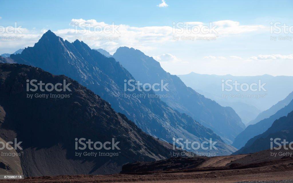 Mountain pass (Paso Los Libertadores), Argentina, Chile stock photo