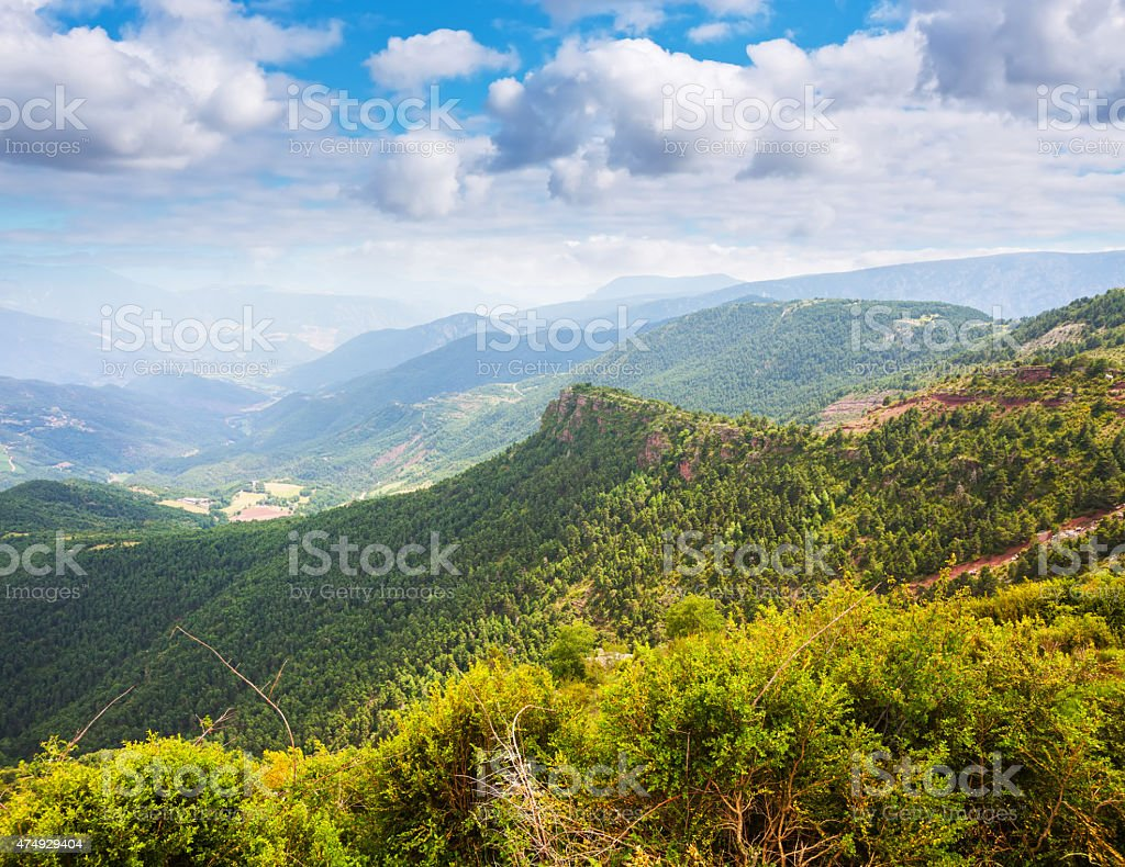 mountain pass in Pyrenees stock photo