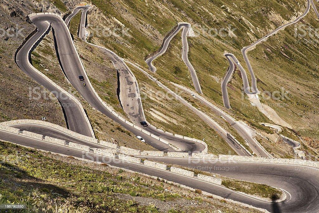 mountain pass - Passo dello Stelvio stock photo