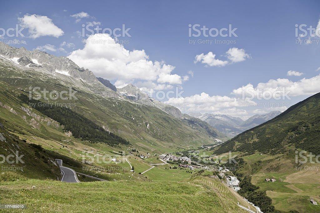 Mountain Pass royalty-free stock photo