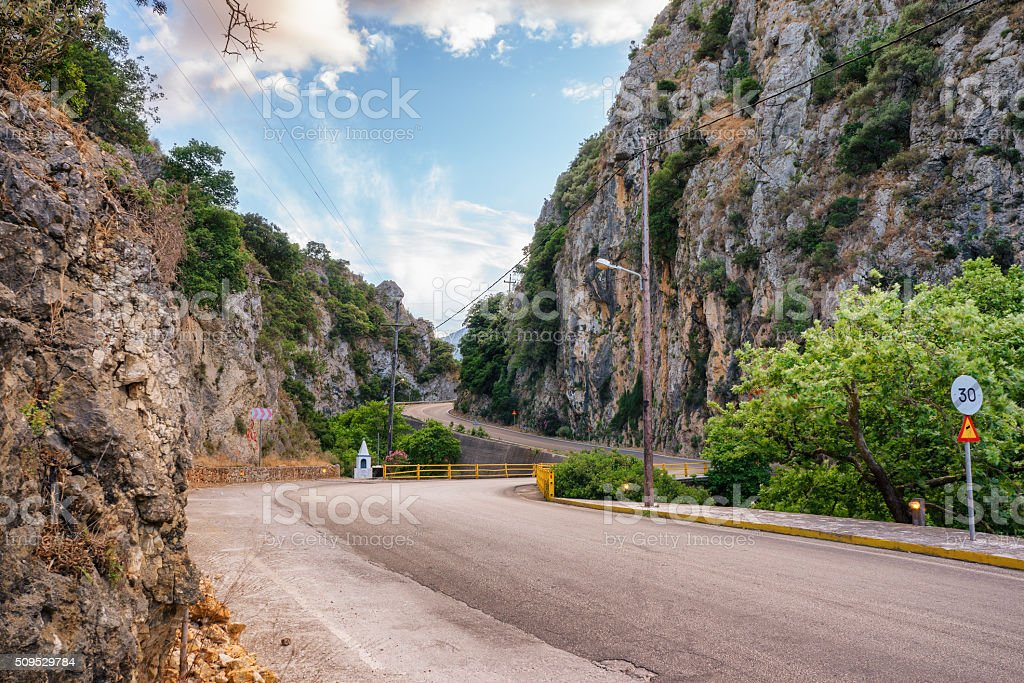 Mountain pass stock photo