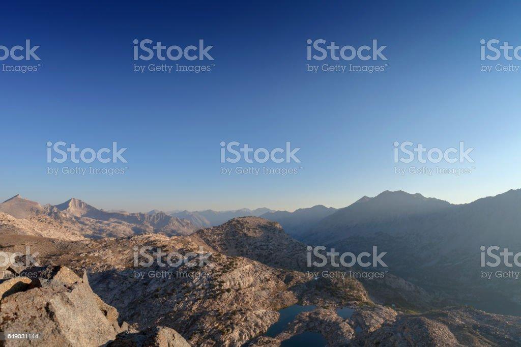 Mountain Pass Sunrise stock photo