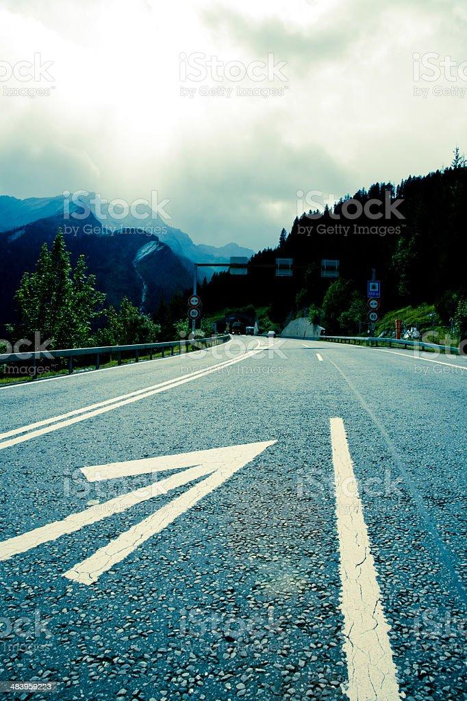 mountain pass switzlerland (cross processed) royalty-free stock photo