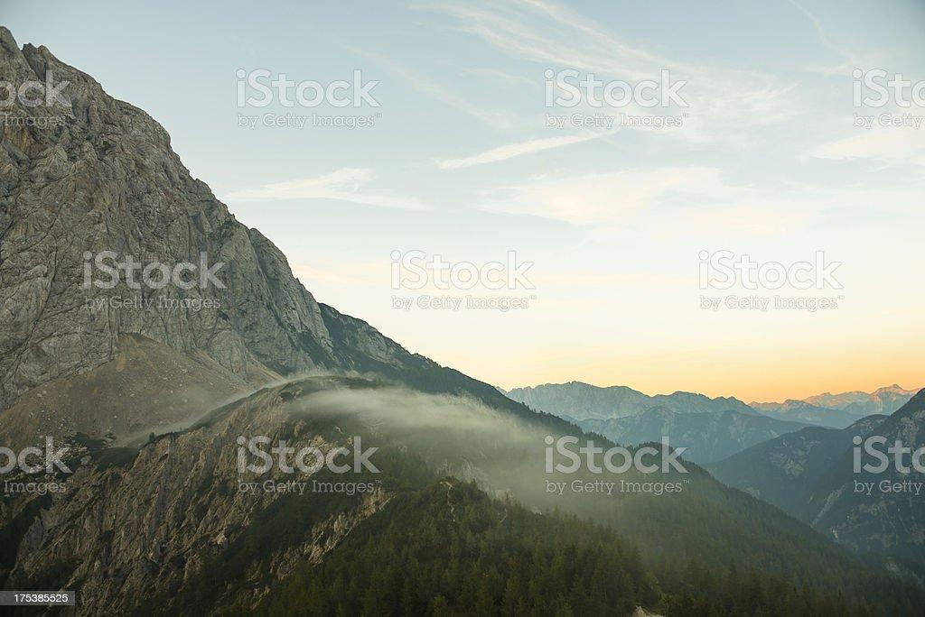 Mountain pass Vrsic stock photo