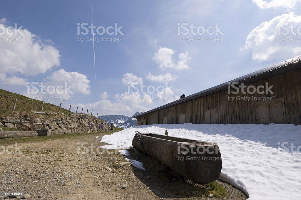 Mountain Pasture House stock photo
