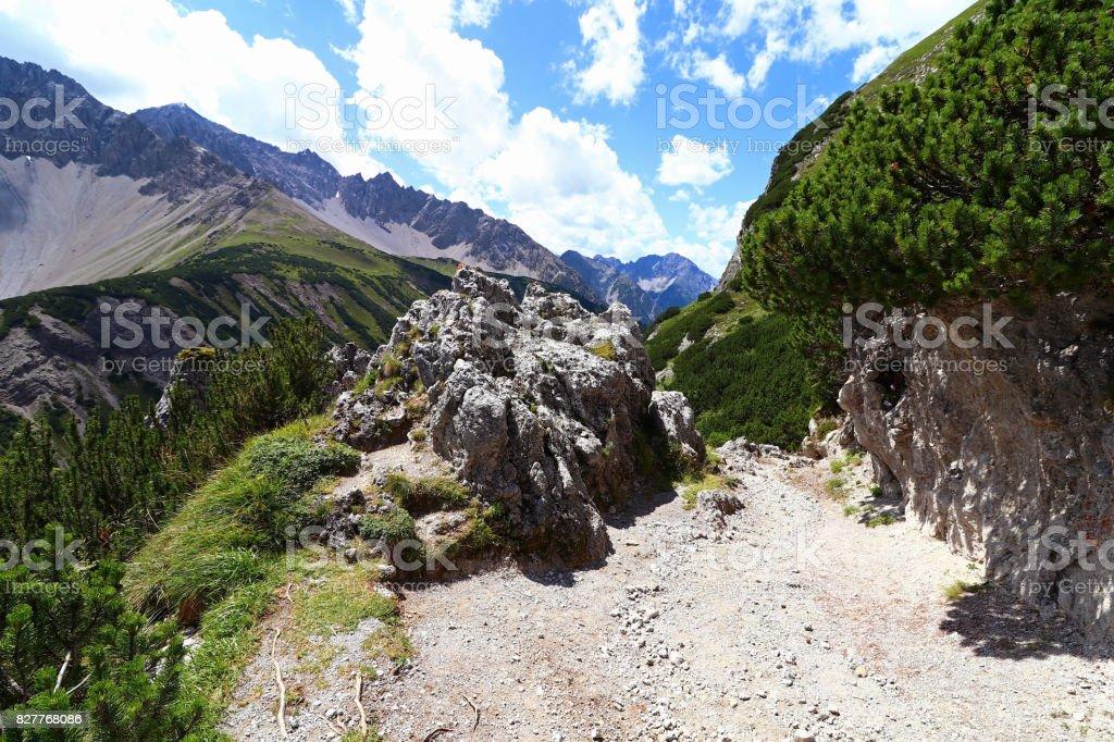 Mountain path in the mountains stock photo