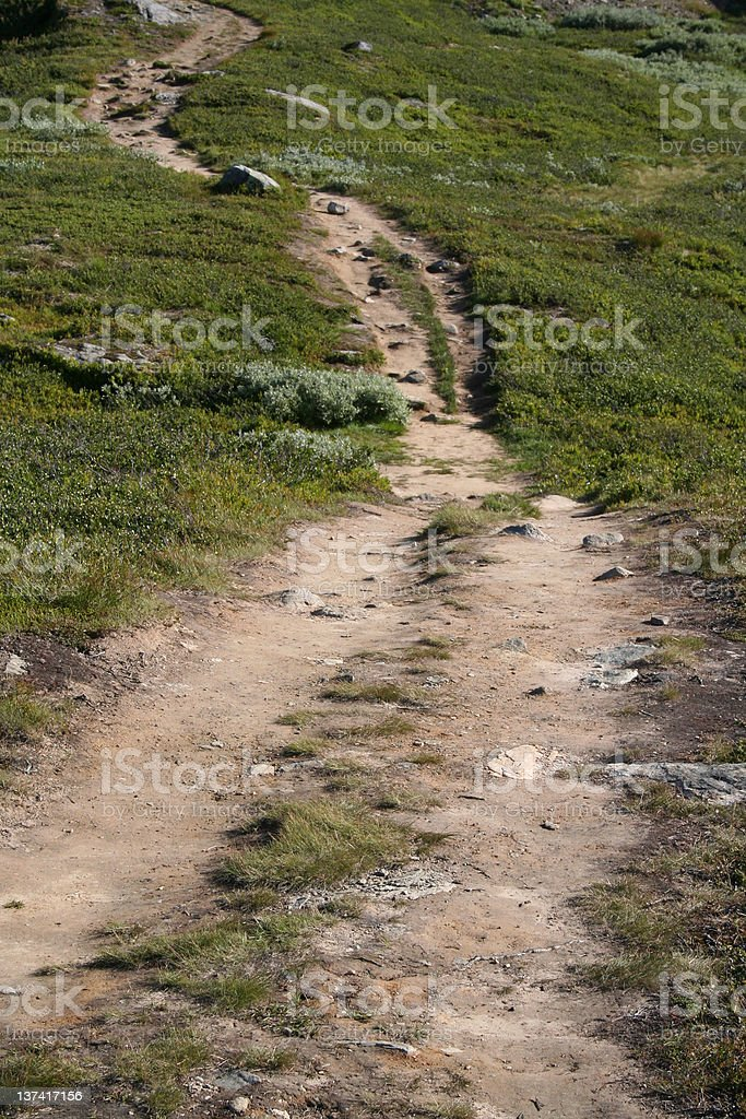 Mountain path royalty-free stock photo