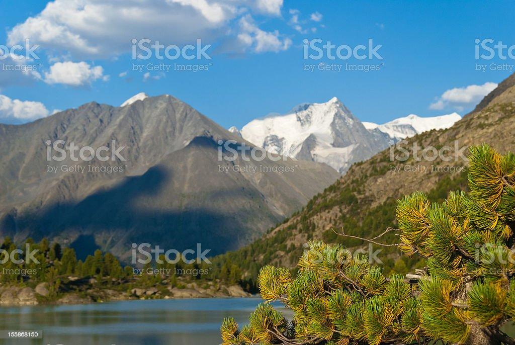 Mountain peak, Altay stock photo