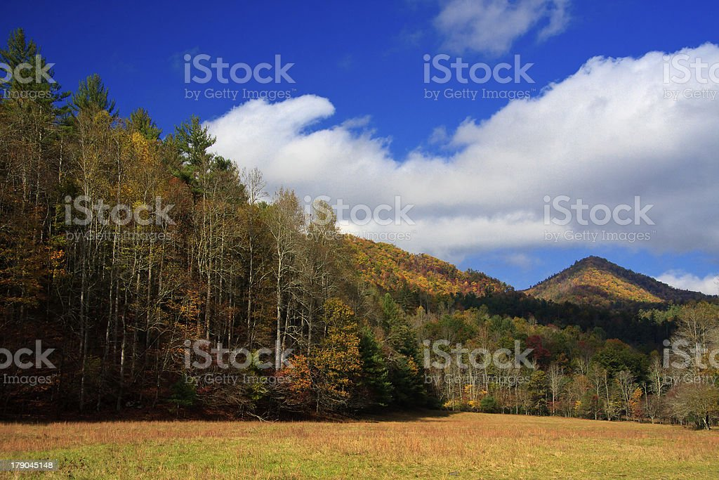 Mountain Peak and Field royalty-free stock photo