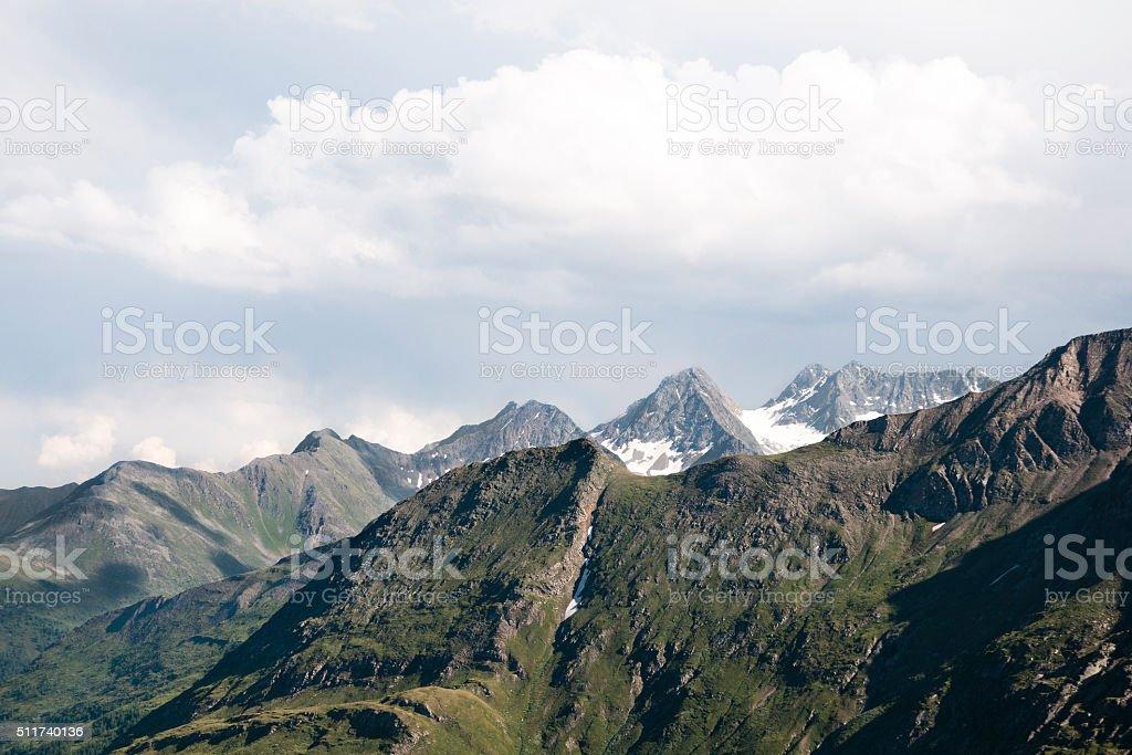 Mountain peak - Austrian Alps stock photo