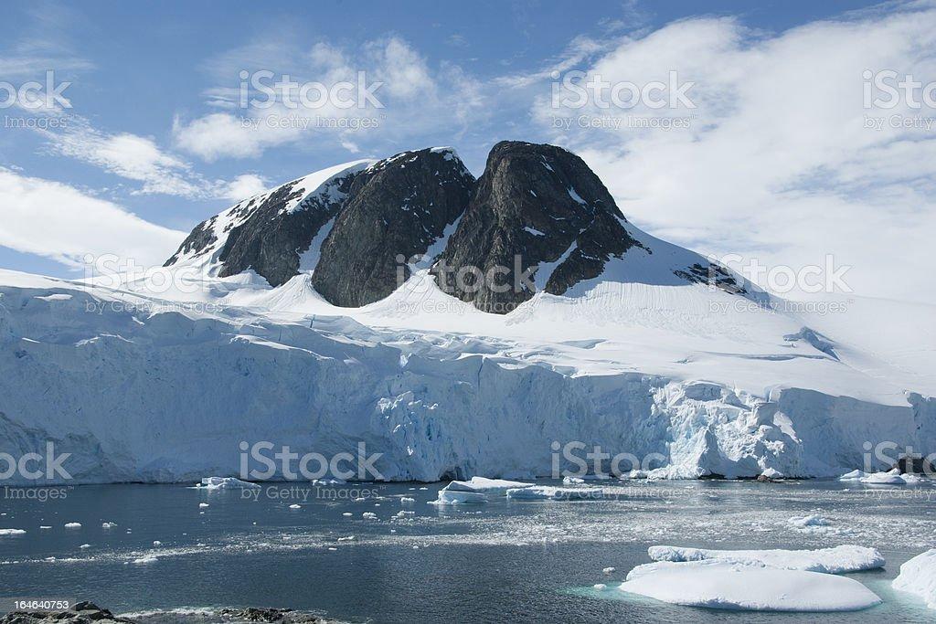 Mountain peak in Antarctica. royalty-free stock photo