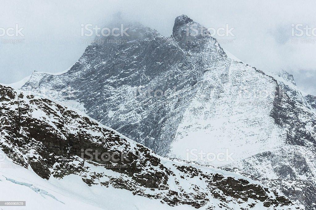 Mountain Peak in Bernese Oberland stock photo